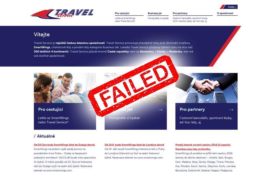 Hodnotíme firemní weby: Jak si vede Travel Service?